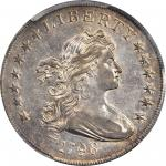 1798 Draped Bust Silver Dollar. Heraldic Eagle. BB-113, B-27. Rarity-2. Pointed 9, Close Date--Doubl