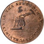 Undated (Circa 1793-1795) Kentucky Token. W-8810. Rarity-5. Copper. LANCASTER Edge. MS-63 RD (PCGS).