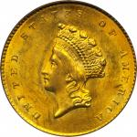 1855-O Gold Dollar. Type II. MS-63 (PCGS). OGH.