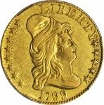 1799 Capped Bust Right Half Eagle. BD-1. Rarity-5+. Small Stars Reverse. EF Details--Repaired (PCGS)