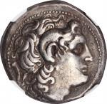 THRACE. Kingdom of Thrace. Lysimachos, 323-281 B.C. AR Tetradrachm, Sestus Mint, 297-281 B.C. NGC Ch