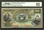 COLOMBIA. Banco Nacional de la República de Colombia. 50 Pesos, March 1, 1888. P-217s. Specimen.