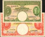 1941年马来亚货币发行局5 & 10元。