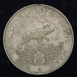 GERMANY Anhalt-Bernburg アンハルト・ベルンブルク Taler 1852A EF