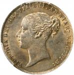 GREAT BRITAIN. 6 Pence, 1865. London Mint. Victoria. PCGS Genuine--Cleaned, Unc Details Gold Shield.