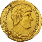 MAGNENTIUS, A.D. 350-353. AV Solidus (4.36 gms), Trier Mint, ca. A.D. 350-351.