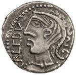 GAUL: Remi, AR quinarius 401。81g41, 1st century BC, LT-7177, DT-642, Celticized diademed bust left,