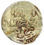 GREAT MONGOLS: Anonymous, ca. 1220s-1240s, AV dinar (2.63g), NM, ND, A-A1967, double struck obverse,