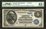 Ashland, Pennsylvania. $5 1882 Date Back. Fr. 534. The Citizens NB. Charter #2280. PMG Choice Extrem