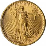 1911-S Saint-Gaudens Double Eagle. MS-65+ (PCGS).