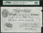 Bank of England, C.P. Mahon, specimen £10, London 9 April 1925, serial number 002/Q 00000, black and