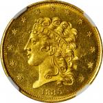 1835 Classic Head Half Eagle. McCloskey-3. First Head, Small Date. MS-65 PL (NGC).