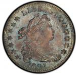 1807 Draped Bust Dime. John Reich-1. Rarity-2. Mint State-66 (PCGS).PCGS Population: 3, none finer.