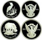 1976年苏丹纪念银币二枚一组,面值2.5及5镑,含银量.925,重量为0.841及1.04安士,均评NGC PF68UC