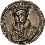 GREAT BRITAIN. Cast Silver Medal, 1587.