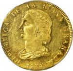 COLOMBIA. 1838-RU 16 Pesos. Popayán mint. Restrepo M212.3. MS-61 (PCGS).