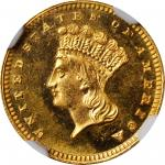 1878 Gold Dollar. MS-66+ PL (NGC). CAC.