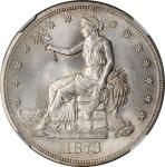 1873-S Trade Dollar. MS-64+ (NGC).