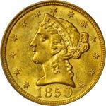 1850-C Liberty Head Half Eagle. MS-62 (PCGS).