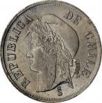 CHILE. 2 Centavos, 1876. PCGS MS-65.