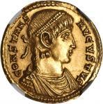 CONSTANS, A.D. 337-350. AV Solidus (4.48 gms), Trier Mint, ca. A.D. 347-348. NGC MS, Strike: 4/5 Sur