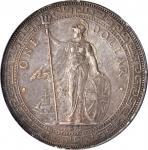 1895-B年英国贸易银元站洋一圆银币孟买铸币厂 GREAT BRITAIN. Trade Dollar, 1895-B. Bombay Mint. Victoria. PCGS Genuine--E