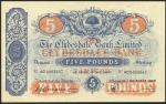 Clydesdale Bank Limited, £5, 3 March 1948, serial number AC 0003667, blue and red with blue underpri