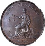 NEW ZEALAND. Christchurch. S. Clarkson. Penny Token, 1875. NGC MS-62 BN.