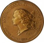 1945 United States Assay Commission Medal. Bronze. 76 mm. By Augustin Dupre. JK AC-90a. Rarity-7. Ed