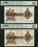 Treasury Series, Norman Fenwick Warren-Fisher (1919-1928), first issue, 」1 (2), ND (30 September 191
