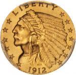 1912 Indian Quarter Eagle. Proof. Unc Details--Altered Surfaces (PCGS).