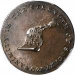 Undated (Circa 1793-1795) Kentucky Token. W-8810. Rarity-5. Copper. LANCASTER Edge. MS-63 BN (PCGS).