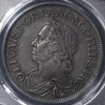 GREAT BRITAIN Commonwealth コモンウェ儿ス(1649~60) Crown 1658/7 PCGS-XF40 VF+