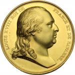 法国路易十八像金章 近未流通