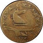 1786 New Jersey copper. Maris 25-S. Rarity-5+. Straight Plow Beam. VF-20 (PCGS).