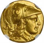 MACEDON. Kingdom of Macedon. Alexander III (the Great), 336-323 B.C. AV Stater (8.55 gms), Lampsacus