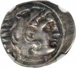 MACEDON. Kingdom of Macedon. Alexander III (the Great), 336-323 B.C. AR Drachm (4.25 gms), Abydus Mi