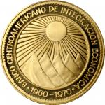 CENTRAL AMERICA. 50 Peso, 1970. PCGS PROOF-67 Deep Cameo Gold Shield.