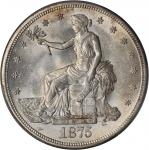 1875-S Trade Dollar. Type I/I. MS-64 (PCGS).