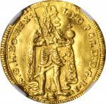 TRANSYLVANIA. Ducat, 1701-FT. Kolozsvar (Cluj-Napoca) Mint. Leopold I. NGC MS-60.