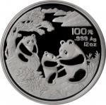 1993年熊猫纪念银币12盎司 NGC PF 69