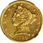 1900-S Liberty Head Half Eagle. MS-63 * (NGC).