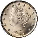 1902 Liberty Head Nickel. MS-67 (PCGS).