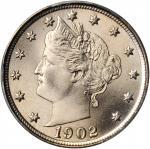 1902 Liberty Head Nickel. MS-67 (PCGS).
