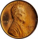 1909 Lincoln Cent. MS-67 RD (PCGS). OGH.