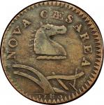 1786 New Jersey copper. Maris 23-R. Rarity-3. Narrow Shield, Curved Plow Beam. VF-30 (PCGS).