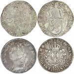 17及18世纪欧洲银币二枚一组,包括荷兰及法国,F-AVF品相