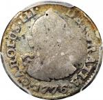 COLOMBIA. 1776-JJ 1/2 Real. Santa Fe de Nuevo Reino (Bogotá) mint. Carlos III (1759-1788). Restrepo