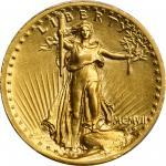 MCMVII (1907) Saint-Gaudens Double Eagle. High Relief. Wire Rim. AU Details--Cleaned (PCGS).