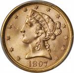 1897 Liberty Head Half Eagle. MS-65+ (PCGS).